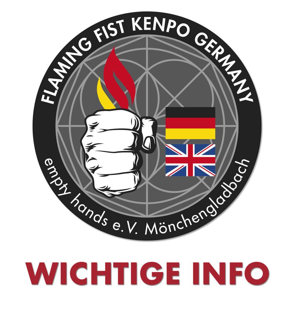 Kenpo Training wieder möglich unter Einhaltung der Hygienevorschriften
